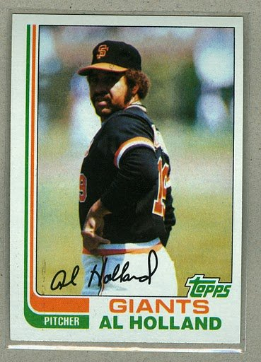 1982 Topps Baseball #406 Al Holland Giants Pack Fresh