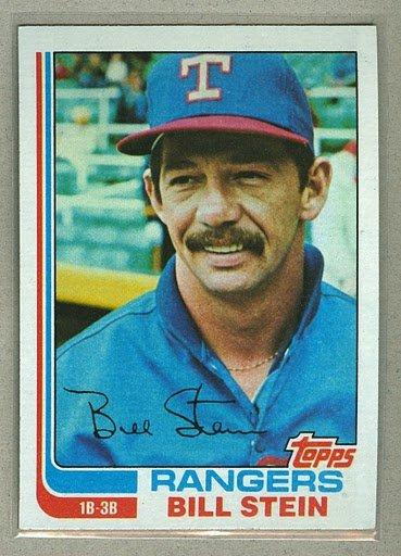 1982 Topps Baseball #402 Bill Stein Rangers Pack Fresh