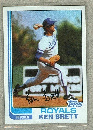 1982 Topps Baseball #397 Ken Brett Royals Pack Fresh