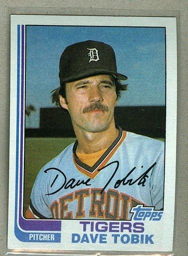 1982 Topps Baseball #391 Dave Tobik Tigers Pack Fresh