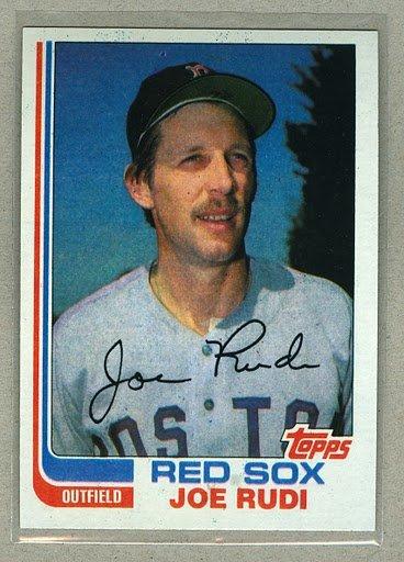 1982 Topps Baseball #388 Joe Rudi Red Sox Pack Fresh
