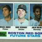 1982 Topps Baseball #381 Hurst/Schmidt/Valdez RC Red Sox Pack Fresh