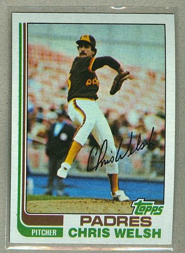 1982 Topps Baseball #376 Chris Welsh Padres Pack Fresh