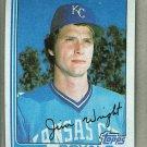 1982 Topps Baseball #362 Jim Wright Royals Uncorrected Error Pack Fresh