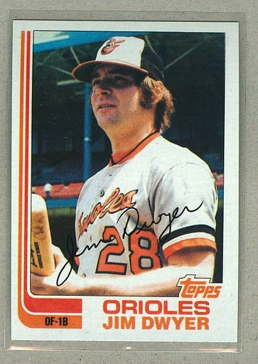 1982 Topps Baseball #359 Jim Dwyer Orioles Pack Fresh