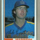 1982 Topps Baseball #358 Mike Parrott Mariners Pack Fresh