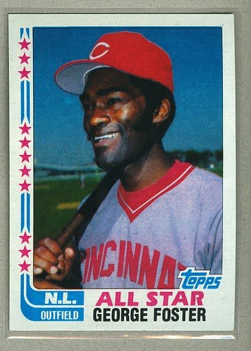 1982 Topps Baseball #342B George Foster Reds Error No Autograph Pack Fresh