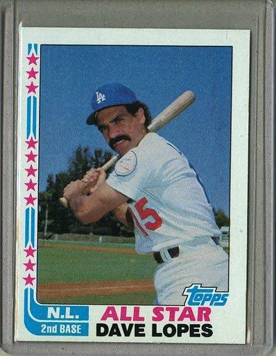 1982 Topps Baseball #338 Dave Lopes Dodgers Pack Fresh