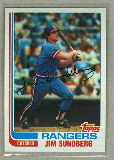 1982 Topps Baseball #335 Jim Sundberg Rangers Pack Fresh