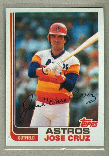 1982 Topps Baseball #325 Jose Cruz Astros Pack Fresh