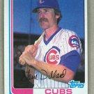 1982 Topps Baseball #324 Steve Dillard Cubs Pack Fresh