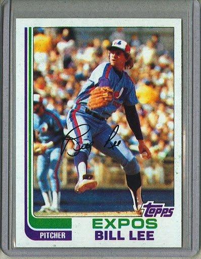 1982 Topps Baseball #323 Bill Lee Expos Pack Fresh