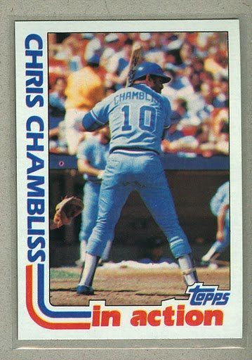 1982 Topps Baseball #321 Chris Chambliss Royals Pack Fresh