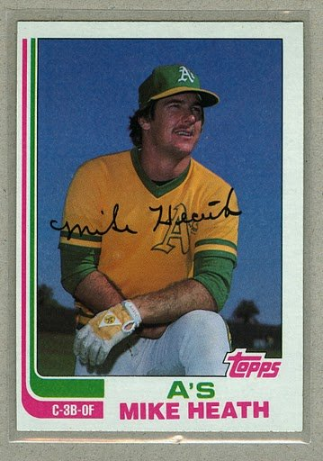 1982 Topps Baseball #318 Mike Heath A's Pack Fresh