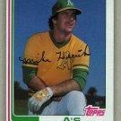 1982 Topps Baseball #318 Mike Heath A's Pack Fresh