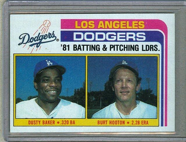 1982 Topps Baseball #311 Dodgers Team Checklist Pack Fresh