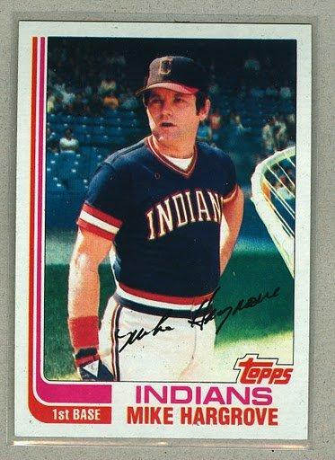 1982 Topps Baseball #310 Mike Hargrove Indians Pack Fresh