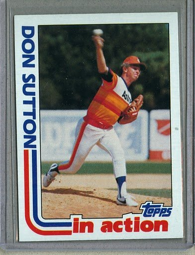 1982 Topps Baseball #306 Don Sutton Astros Pack Fresh