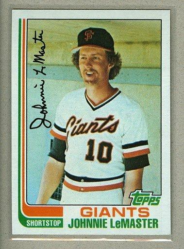 1982 Topps Baseball #304 Johnnie LeMaster Giants Pack Fresh