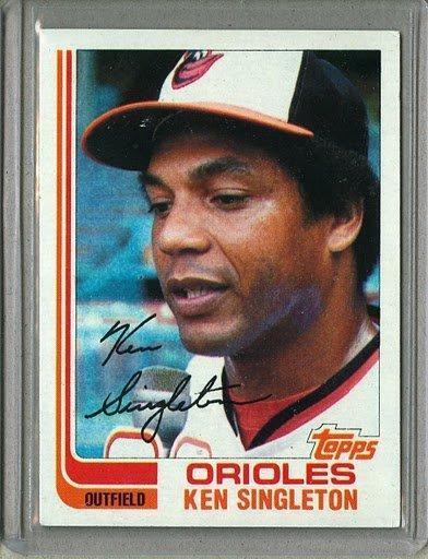 1982 Topps Baseball #290 Ken Singleton Orioles Pack Fresh