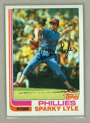 1982 Topps Baseball #285 Sparky Lyle Phillies Pack Fresh