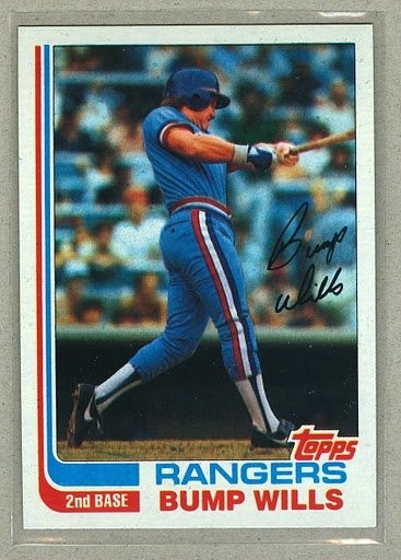 1982 Topps Baseball #272 Bump Wills RangersPack Fresh