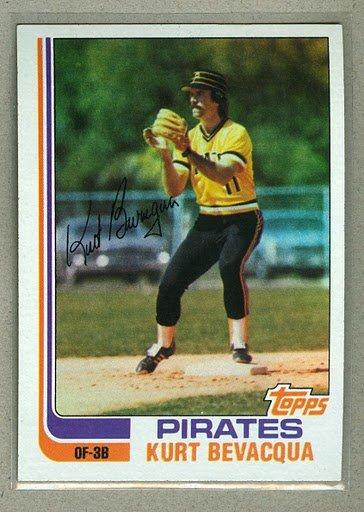 1982 Topps Baseball #267 Kurt Bevacqua Pirates Pack Fresh