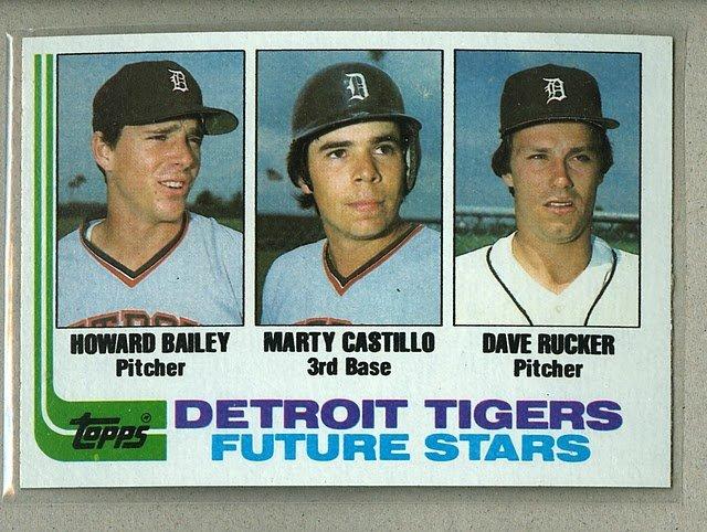 1982 Topps Baseball #261 Bailey/Castillo/Rucker RC Tigers Pack Fresh