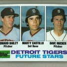 1982 Topps Baseball #261 Bailey/Castillo/Rucker RC Tigers Pack Fresh