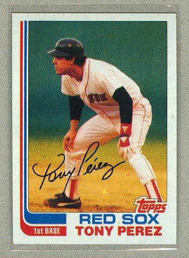 1982 Topps Baseball #256 Tony Perez Red Sox Pack Fresh
