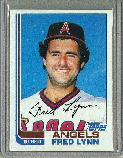 1982 Topps Baseball #251 Fred Lynn Angels Pack Fresh