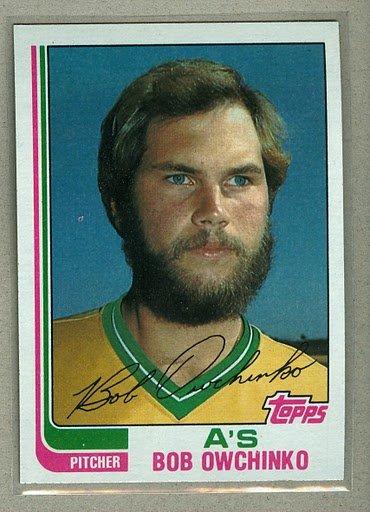 1982 Topps Baseball #243 Bob Owchinko A's Pack Fresh