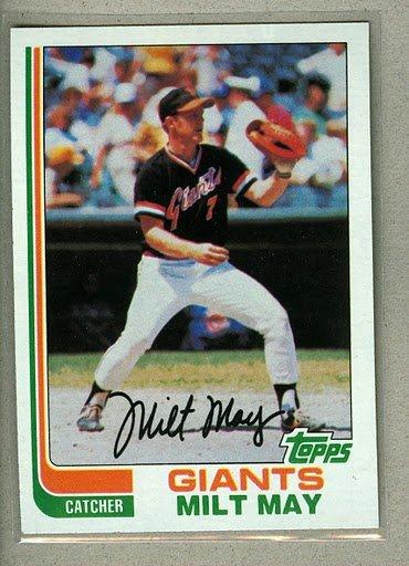 1982 Topps Baseball #242 Milt May Giants Pack Fresh