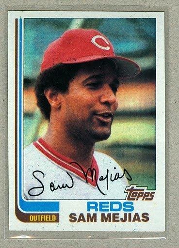 1982 Topps Baseball #228 Sam Mejias Reds Pack Fresh