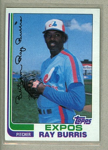 1982 Topps Baseball #227 Ray Burris Expos Pack Fresh