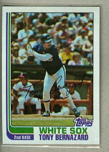 1982 Topps Baseball #206 Tony Bernazard White Sox Pack Fresh