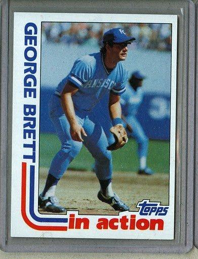 1982 Topps Baseball #201 George Brett Royals Pack Fresh