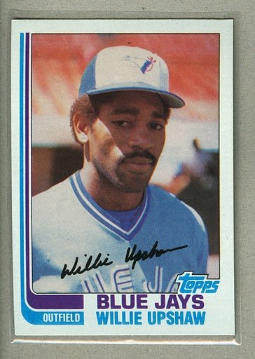 1982 Topps Baseball #196 Willie Upshaw Blue Jays Pack Fresh