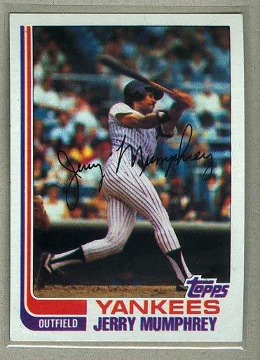 1982 Topps Baseball #175 Jerry Mumphrey Yankees Pack Fresh
