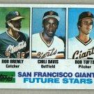 1982 Topps Baseball #171 Brenly/Davis/Tufts RC Giants Pack Fresh