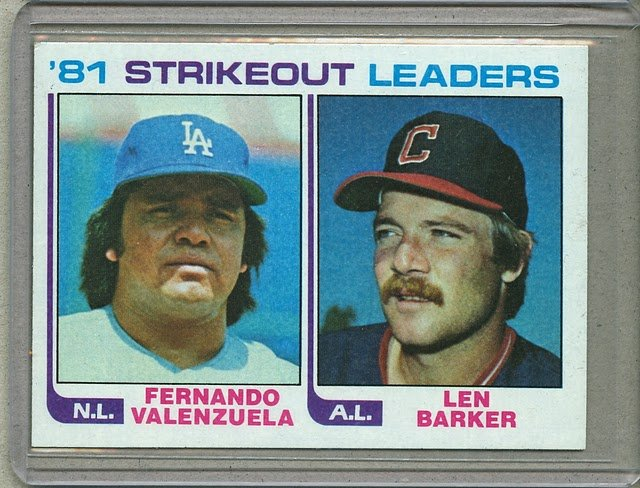 1982 Topps Baseball #166 Valenzuela/Barker Strikeout Leaders Pack Fresh