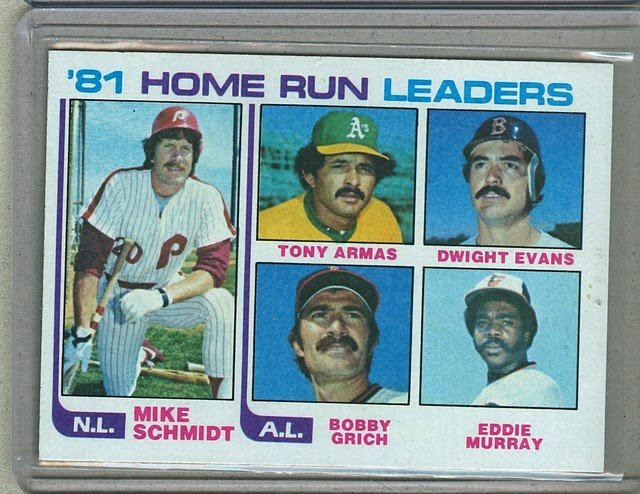 1982 Topps Baseball #162 Schmidt/Armas/Murray Home Run Leaders Pack Fresh