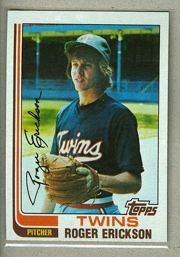 1982 Topps Baseball #153 Roger Erickson Twins Pack Fresh