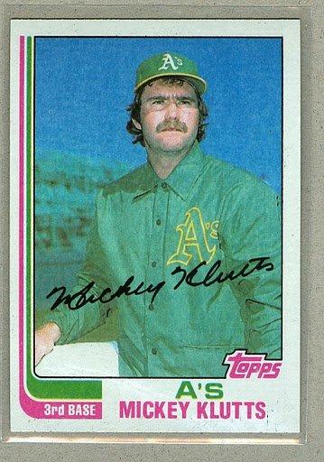 1982 Topps Baseball #148 Mickey Klutts Pack Fresh