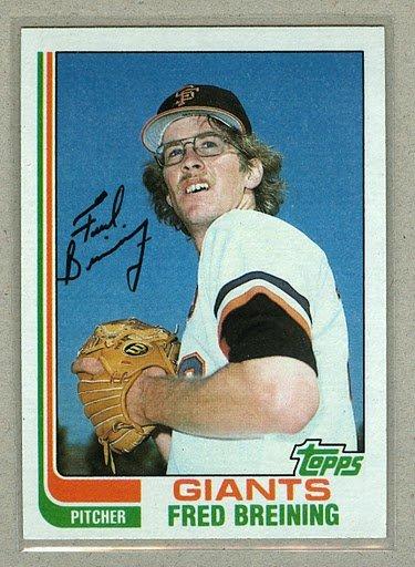 1982 Topps Baseball #144 Fred Breining Giants Pack Fresh