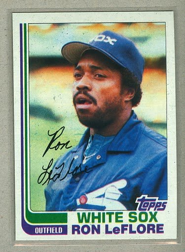 1982 Topps Baseball #140 Ron Leflore White Sox Pack Fresh