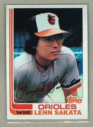 1982 Topps Baseball #136 Lenn Sakata Orioles Pack Fresh