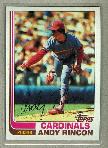 1982 Topps Baseball #135 Andy Rincon Cardinals Pack Fresh