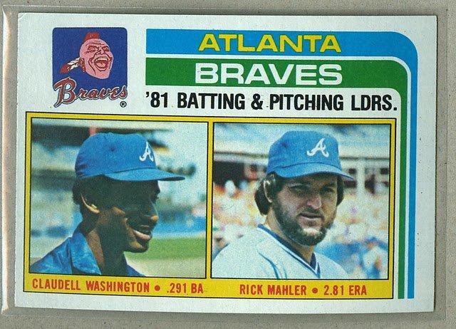 1982 Topps Baseball #126 Braves Team Checklist Pack Fresh