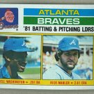 1982 Topps Baseball #126 Braves Team Checklist Pack Fresh
